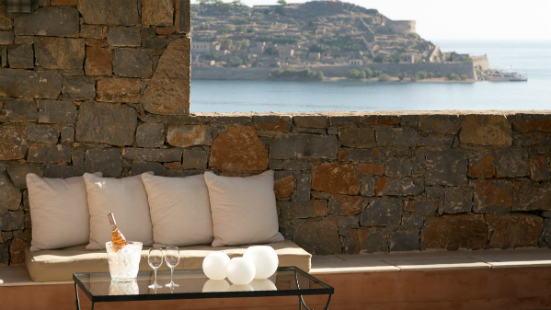 Spinalonga view from Blue Palace Resort and Spa