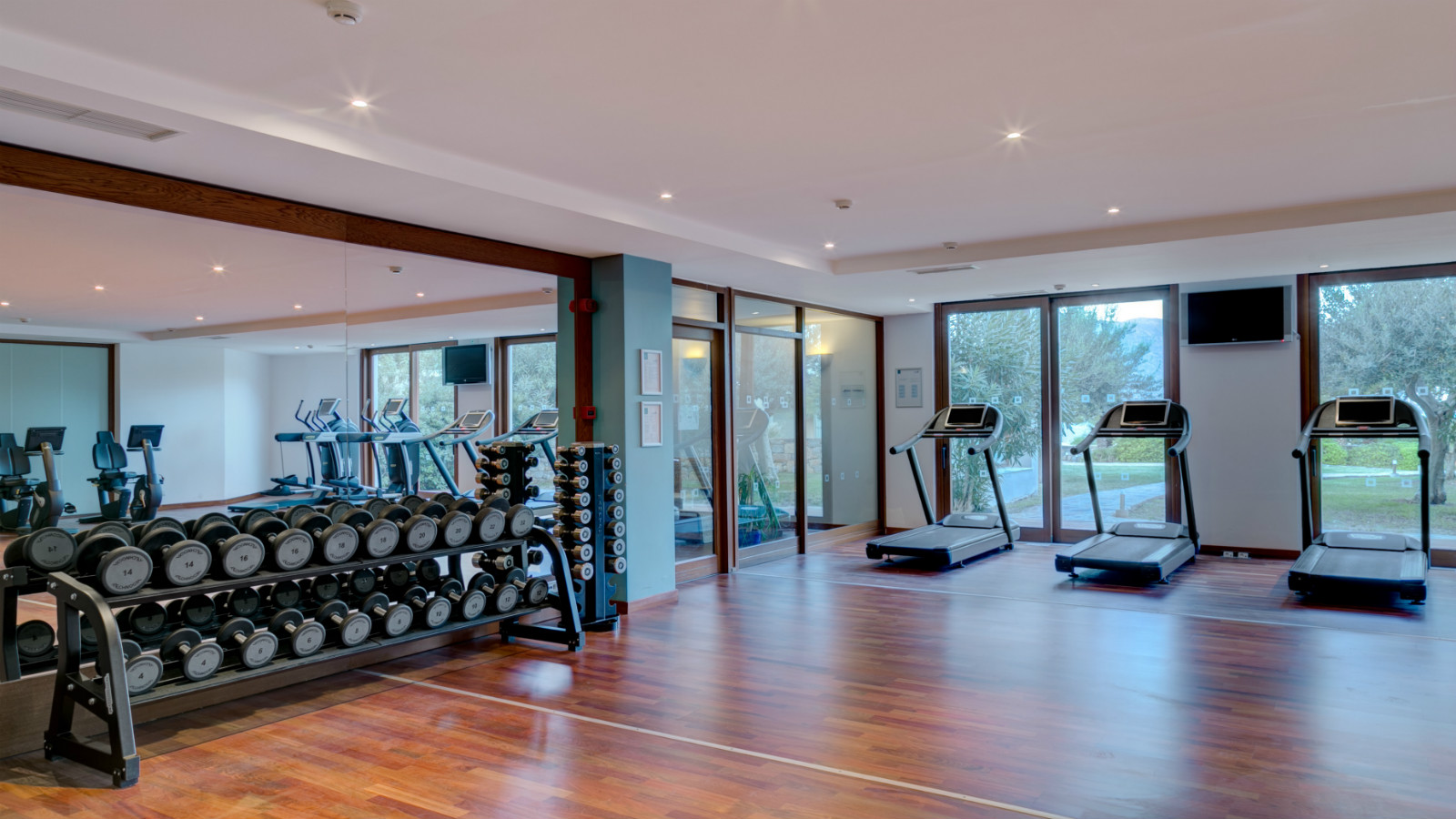 fitness center at elounda spa blue palace resort crete greece