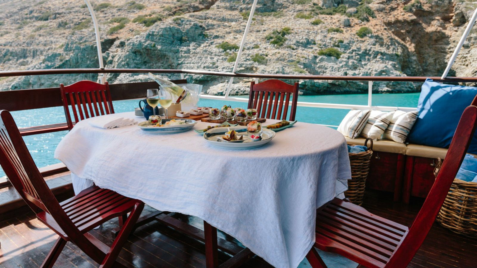 Boat trip spinalonga elounda crete greece Blue Palace Hotel